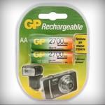 Аккумулятор никель-металлгидридный AA 2700 ма/ч. 1,2В 2 шт GP 270AAHC-UC2 PET-G