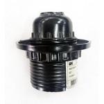 Патрон Е27 карболитовый резьбовой с пластиковыйкольцом (до 40Вт) черный IEK