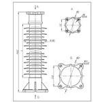 Полимерные стержневые опорные изоляторы ОСК-10-110-Б-2 УХЛ1