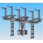 Разъединитель трехполюсный РН-СЭЩ-1а-110/1250 УХЛ1 с приводами ПДС, с фарфоровой изоляцией
