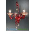 Бра 972/A2 Rosso/Oro Vetri Lamp