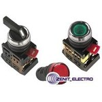 Кнопка ABLF-22 белый d22мм неон/240В 1з+1р  BBT10-ABLF-K01