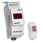 Цифровой вольтметр однофазный переменного тока на din рейку, для измерения 220 Вольт ВМ-1 DigiTOP