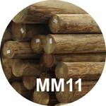 Опора деревянная пропитанная ЛЭП класса ММ11 в комплекте с полиэтиленовой крышкой и тремя гвоздями