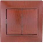EL-BI Zirve вишня Выключатель СП 2 кл. 501-0601-202