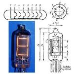 Лампа ИВ-16 (вакуумный индикатор накаливания)