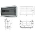 BNK 65-18-1 - щит навесной пластиковый на 18 модулей IP65  (ТЕКФОР) от 1.410 руб. до 1.208 руб