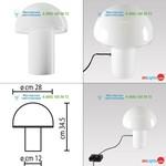 Artemide white A006500, настольная лампа