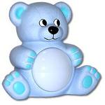 Музыкальный светильник «Мишутка», цвет: голубой