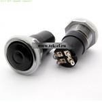 Кнопки К4-1 ф20 черный (аналог) (от 100 шт.)