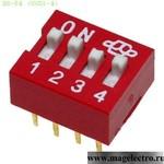 Dip переключатели DS-04 (SWD1-4) (от 500 шт.)