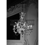 De Majo настенный светильник 7060 A2 серебро-прозрачный,красные и зеленые украшения,цветы