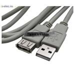 Usb шнуры USB-A F USB-A M 1.8m (от 100 шт.)