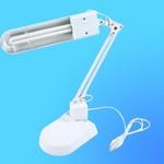 Светильник настольный Camelion KD-017В, G23, белый, тип лампы - энергосберегающая 11Вт, с фиксатором