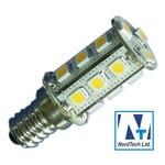 Лампа LED E14 12-24v DC 24 SMD 360 lm 16x45mm