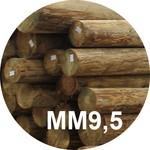 Опора деревянная пропитанная ЛЭП класса ММ9,5 в комплекте с полиэтиленовой крышкой и тремя гвоздями