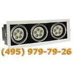 Встраиваемый карданный тройной светодиодный светильник BR-DLS-002/3