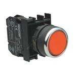 Кнопка нажимная красная B100DK 22мм 4А 1з без фиксации EMAS