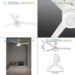 ICE LED White ceiling fan Faro 33459, люстра-вентилятор