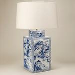 Square Blue & White Vase настольная лампа TC0008.XX Vaughan