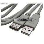 Usb шнуры USB-A F USB-A M 3m (от 100 шт.)