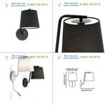29327 Faro BERNI Black wall lamp, светильник