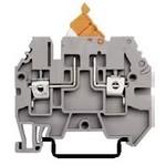 Клеммник с размыкателем на DIN-рейку, 4мм.кв.  (серый); ASK 3A, в наличии