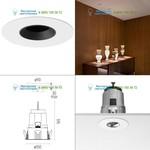 Flos Architectural 03.4607.14 matt black, светильник > Ceiling lights > Recessed lights