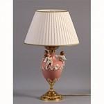 Nervilamp 935/1L/CP Pink Fr. Gold Камея, Настольная лампа