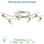Потолочный светильник Lucide BIRDIES Deckel. 6xE14 L120cm Mattes Chrome 12121/06/12