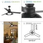 Faro 33396 WINCH FAN Brown ceiling fan, люстра-вентилятор
