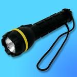 """Фонарь """"Focus-220"""" водонепроницаемый, криптоновая лампа, резина, черный (используются батареи-2хR6)"""