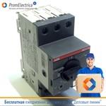 1SAM250000R1009 Автоматический выключатель 6А, 4-6.3А, MS116-6.3 ABB