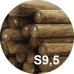 Опора деревянная пропитанная ЛЭП класса S9,5 в комплекте с полиэтиленовой крышкой и тремя гвоздями
