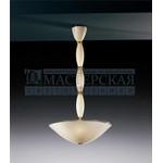 De Majo подвесной светильник 9003 S0 -стекло цвета слоновой кости с прозрачными прожилками и синей каемкой