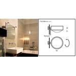 Puk Mirror PLUS wall/ mirror mounting light светильник Top Light, G9 1x60W