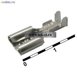Ножевые не изол. на провод DJ622-6.3B (от 1000 шт.)