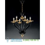 Люстра 1152/6 alto Nero/Oro 24 Kt Vetri Lamp