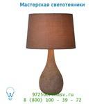 Настольная лампа 13507/81/41 Lucide POLLI Tischl. E14 H41 Schirm D25cm Taupe