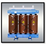 Трехфазный силовой трансформатор с литой изоляцией ТЛС