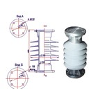 Полимерные изоляторы опорные ОНШП 20-10, ОНШП 35-20