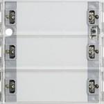 513300 KNX/EIB Сенсорные выключатели, накладки Сенсорный выключатель 3 Komfort, 3-клавишн