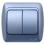 Выключатель двухклавишный Серия Tuna. Производство: Турция. ТМ EL-BI