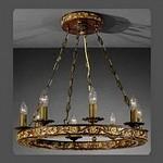 801 La Lampada L 801/8.40 Legno Noce, Подвесной светильник