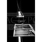 0PLAP0S11 подвесной светильник Plana Plus S110 серый лак-прозрачный, G5 2x39,De Majo