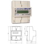 CE102M R5 145-A 5-60А; 220В; 1,0 - однофазный многотарифный счетчик активной энергии (цена от 1.593 руб. до 1.440 руб.)