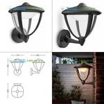 Black Philips 154703016, Led lighting > Outdoor LED lighting > Wall lights > Surface mounted