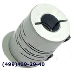SRB-22C 8x10 Муфта для энкодеров разрезная,  диаметр 22мм, с зажимным кольцом, диаметры валов 8*10мм