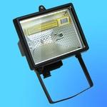 Прожектор галогенный Camelion 0201 FL-500W черный, в комплекте с лампой, IP 54, 220-240V