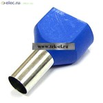 Наконечники на кабель DTE16014 синий (TE16-14) (от 500 шт.)